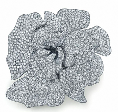 Diamond Gardenia Brooch #jewelry #finejewelry #diamonds #brooch #luxury #MartinKatz #MartinKatzJewels