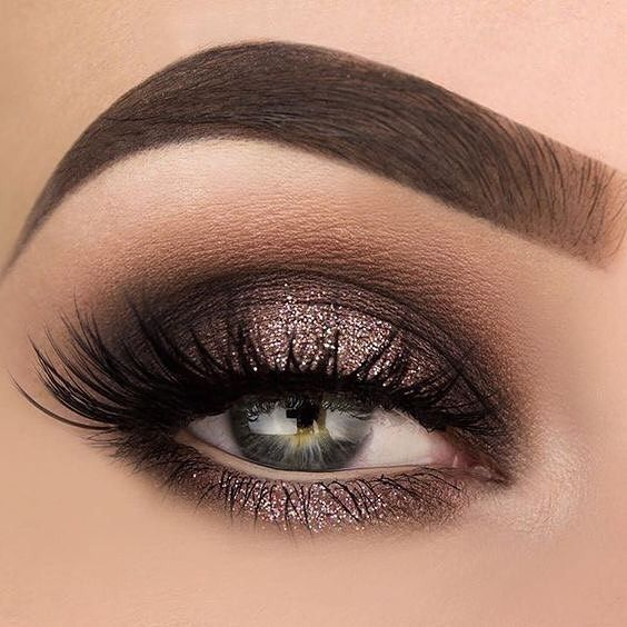 Hint of subtle glitter eye makeup exotic looks