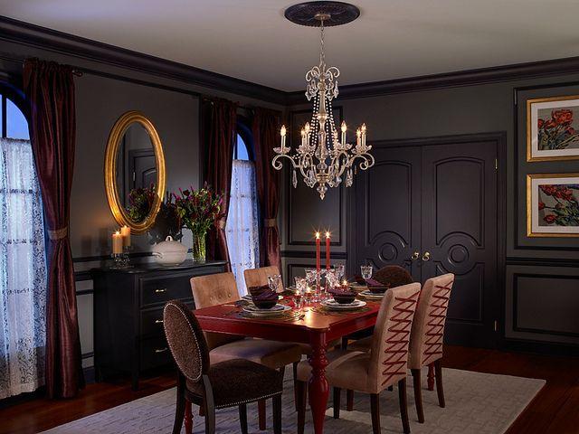 Boudoir Goth Interior Design Interior Dining Room Design