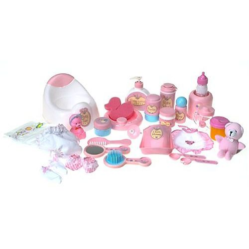 you me baby doll care accessories in bag 80 pieces toys r us toys r us i love the 80. Black Bedroom Furniture Sets. Home Design Ideas