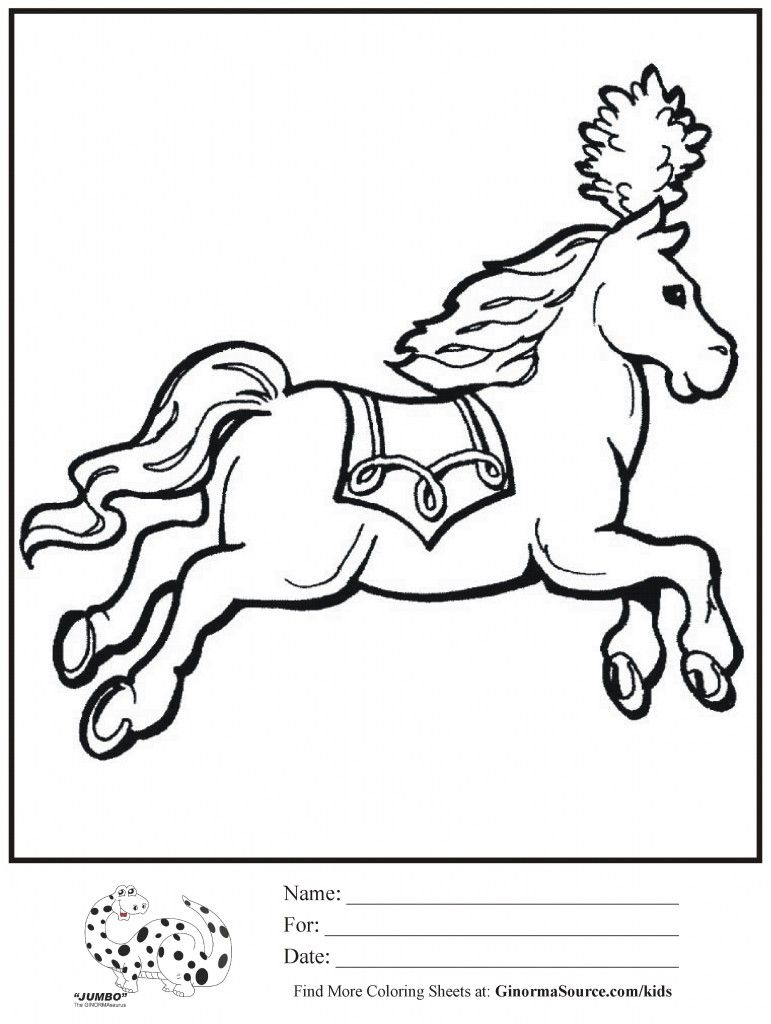 Coloring Page Circus Horse Coloring Pages Monkey Coloring Pages Printable Coloring Pages [ 1024 x 771 Pixel ]