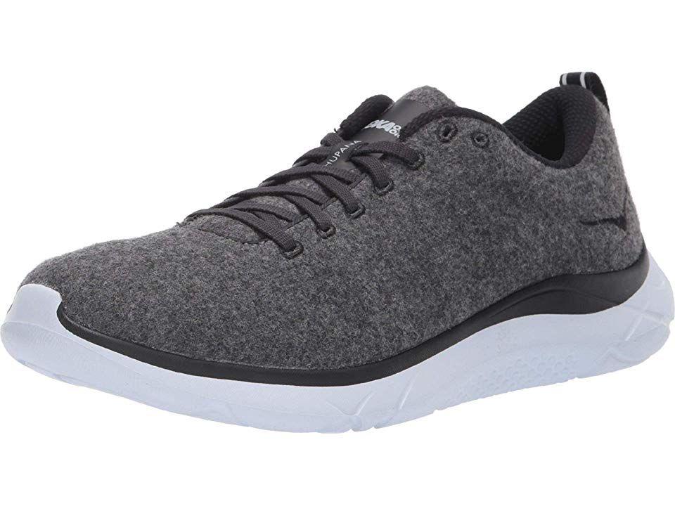 Hoka One One Hupana Wool Men s  running Shoes Neutral Gray White ... dff0e5e4176
