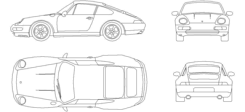 Pin by Dwg İndir on Araçlar | Pinterest | Porsche and AutoCAD