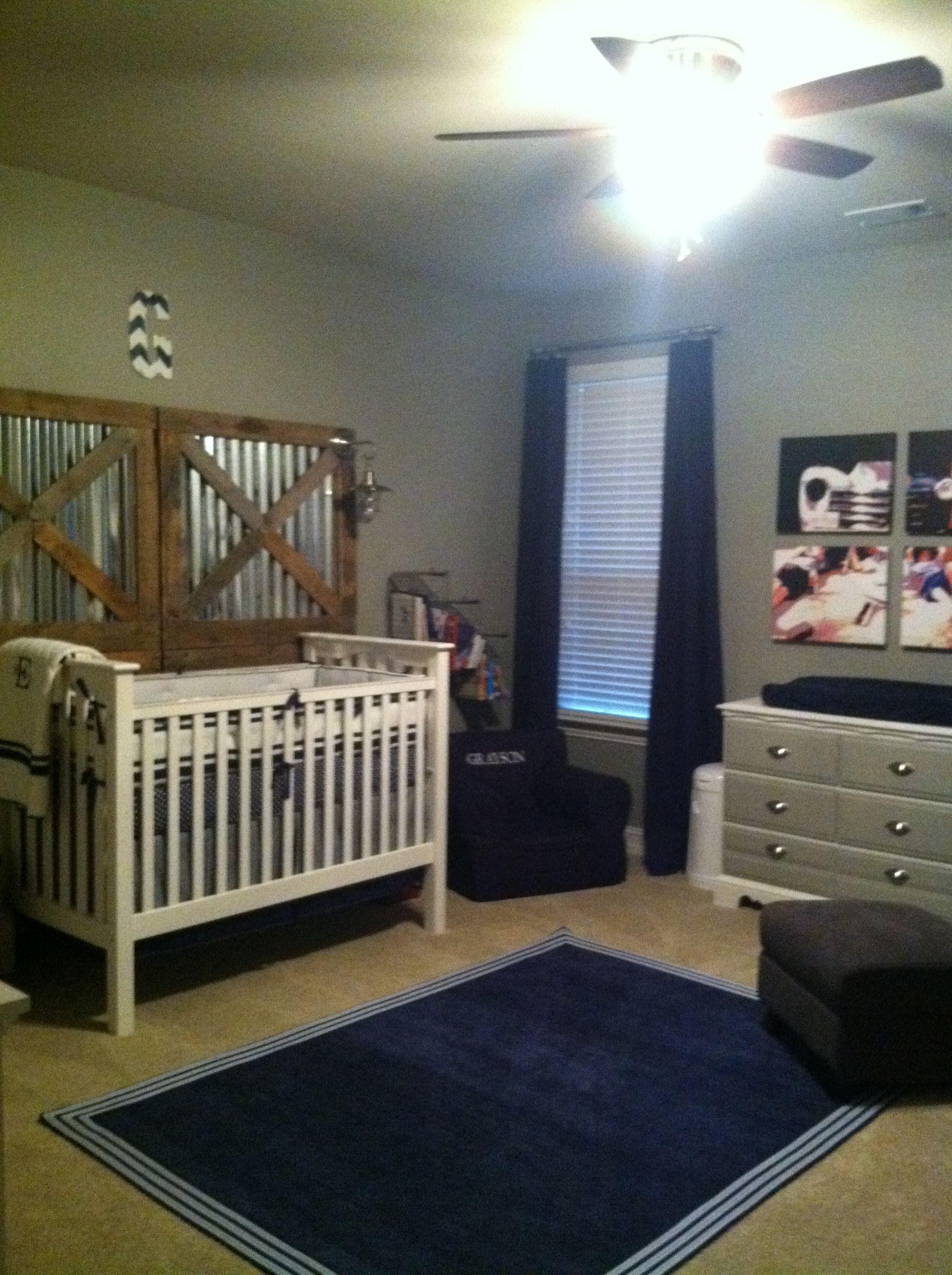 Everything Designish Baby Boy S Nursery: Boys Rustic Vintage Nursery, Navy, Grey And White
