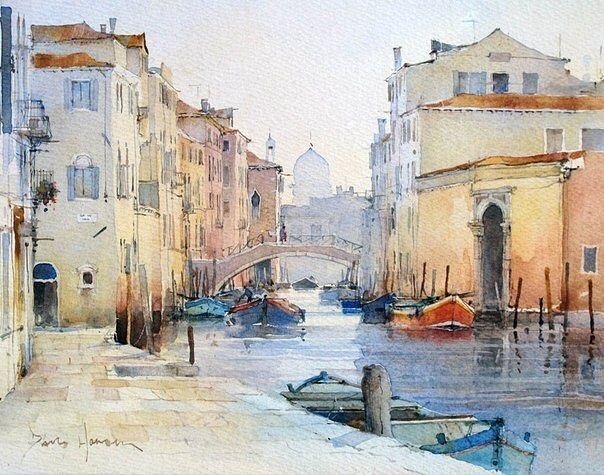 Pin By Jalluc On Inspirations Aquarelles Venice Painting