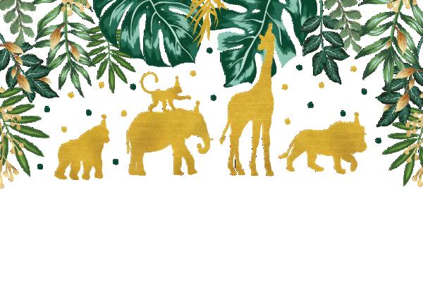 Modern Green Gold Safari Animals 1st Birthday Invitation Zazzle Com In 2021 Safari Animals Birthday Safari Baby Sprinkle Safari Birthday Party