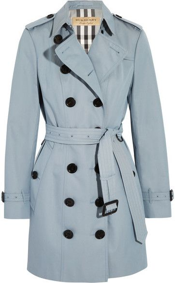 Shop For The Sandringham Cotton Gabardine Trench Coat Sky Blue By Burberry At Shopstyle Now For Sold Out Ropa Ropa De Chicas Abrigos