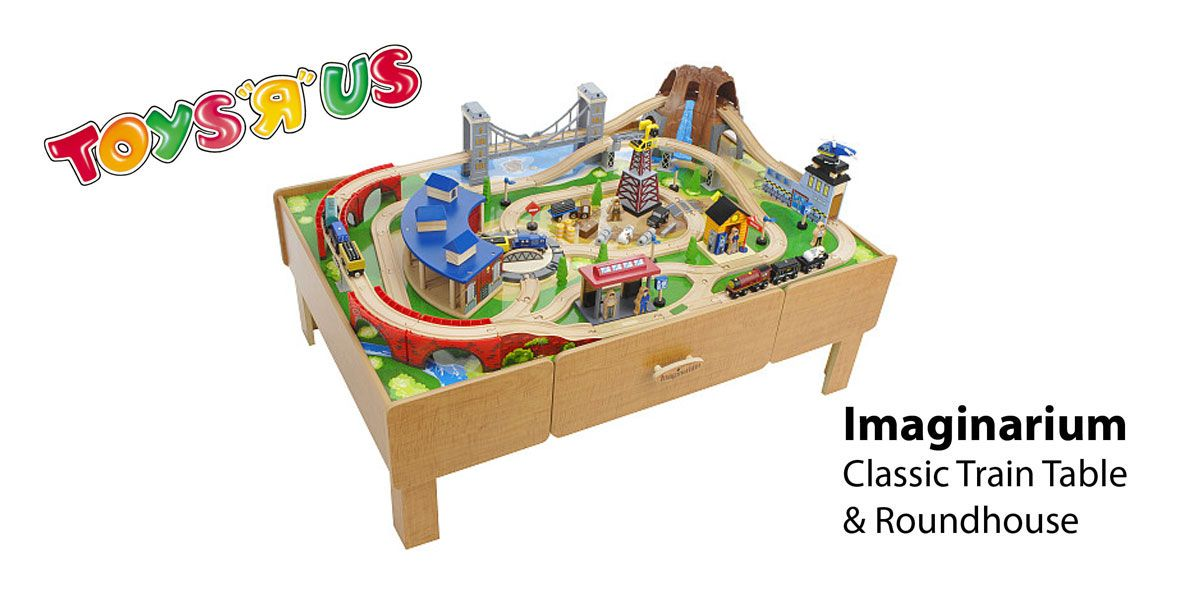 Imaginarium Classic Train Table with Roundhouse- track instructions ...