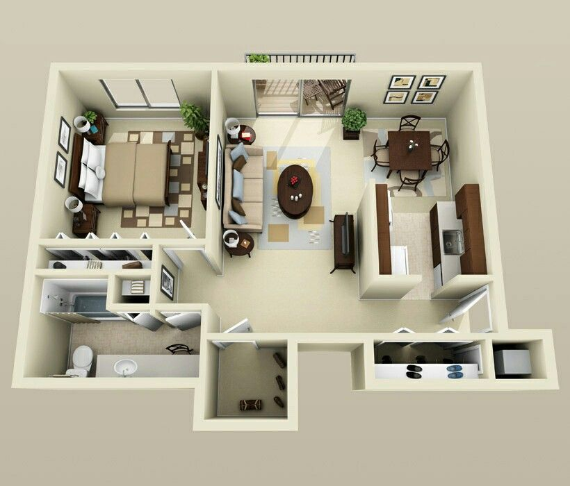 1 Bedroom Basement Apartment Floor Plans. A galley kitchen  lots of closet space a bathroom complete with sink and vanity simple yet smart floor plan make this apartment well thought out Appartement gallery One Pinterest