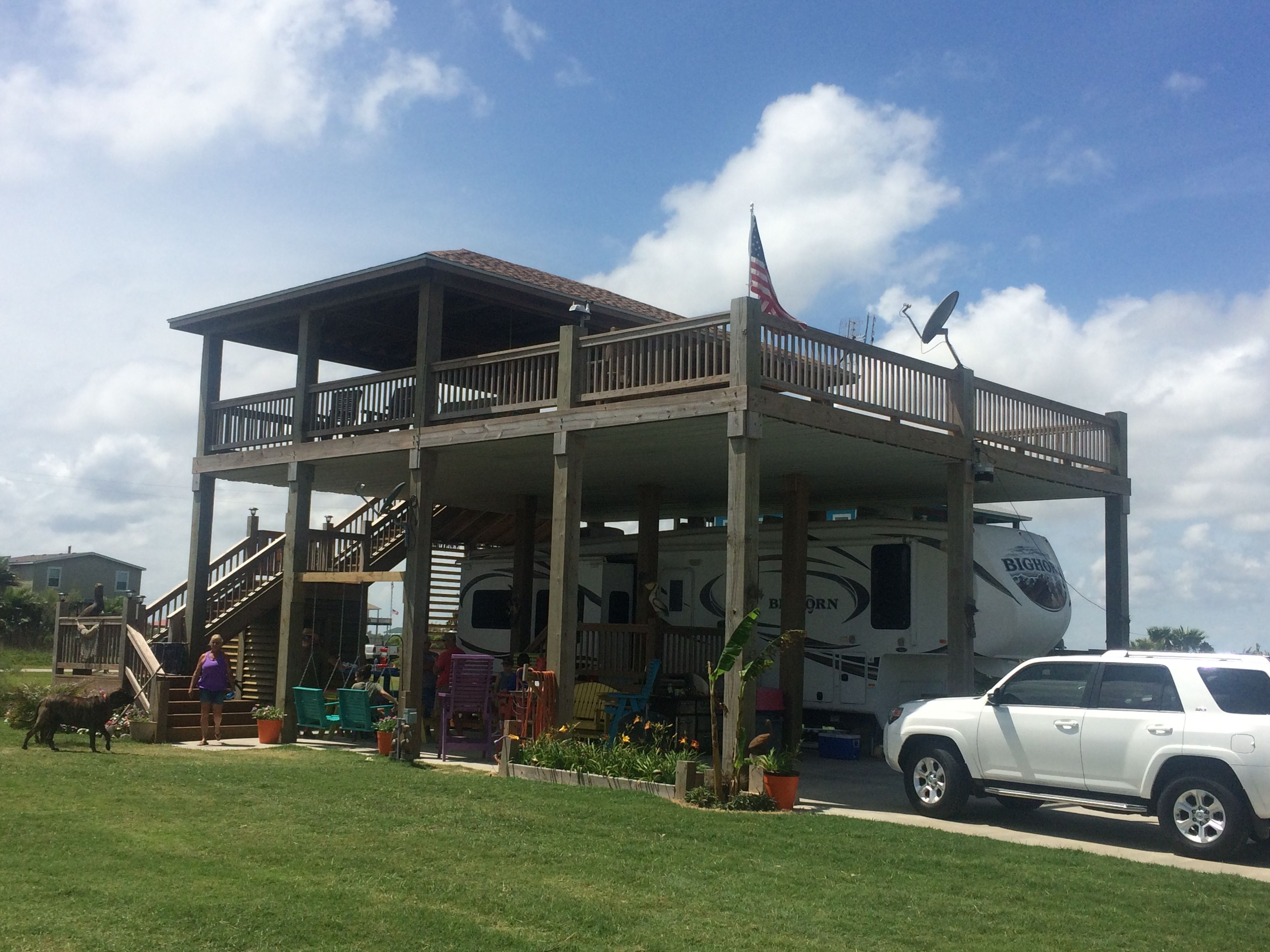 RV Cover And Deck With A View Of The Ocean!