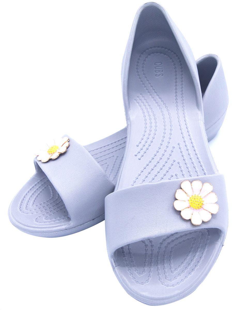 0e0934404eedb8 Cubs Santorini Charm Flower Sandals For Women - Grey Pink