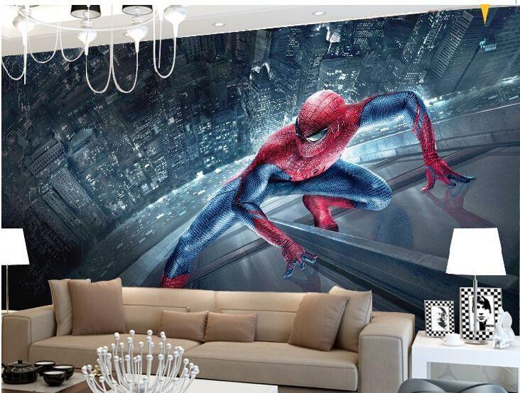 Custom 3d Mural Wallpaper Bedroom Living Room Backdrop Wall Paper Painted Custom Stereoscopic 3d Spiderm Superhero Wall Mural Superhero Wall Mural Art Interior
