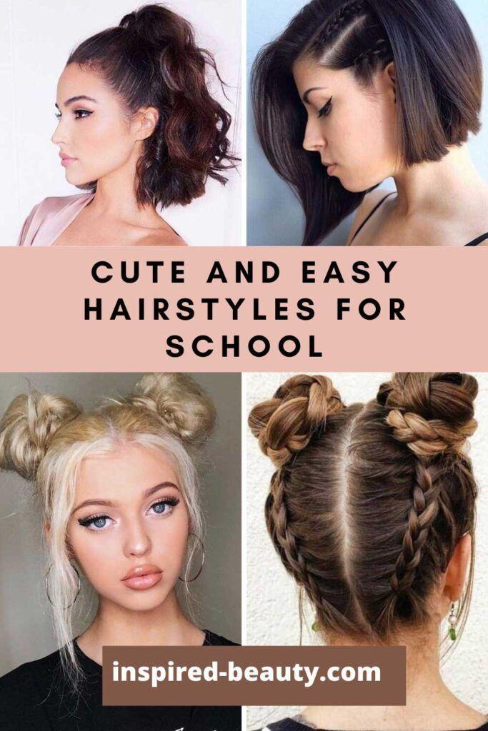 Easy Hairstyles for School Short Hair in 2020   Easy ...