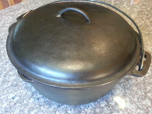 She Was Told The Cast Iron Pot Beyond Repair All She Needed Was Some Lard A Drill Cast Iron Cast Iron Pot Repair