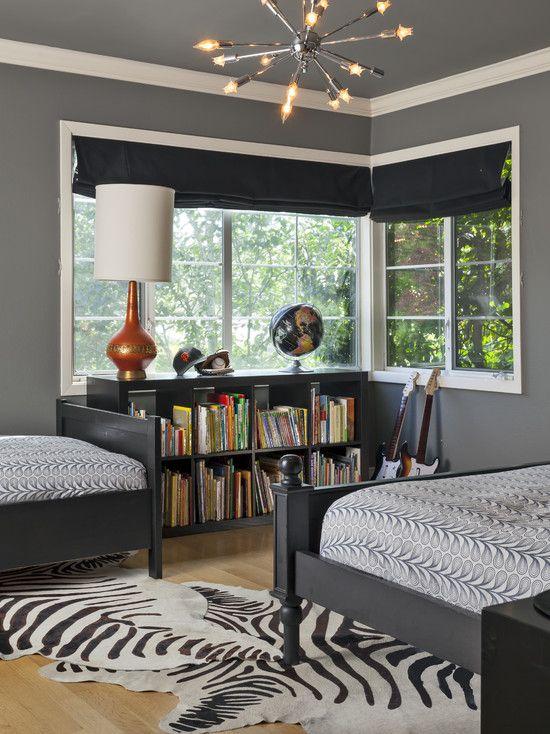 Boy\'s room retro & future, Gray Design, Pictures, Remodel, Decor ...