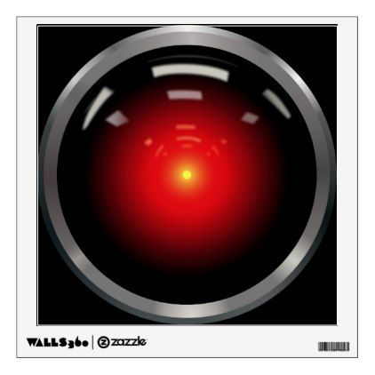 Hal Computer Eye Wall Decal Black Gifts Unique Cool Diy Customize Personalize 2001年宇宙の旅 宇宙 中世ファンタジー