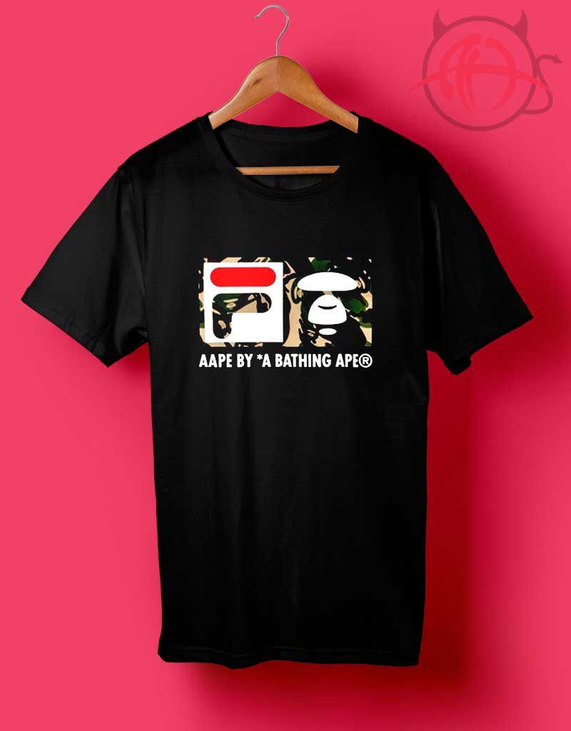699a2d1a Fila Collab Bape Camo Design T Shirt | Custom Cheapest Shirts in ...