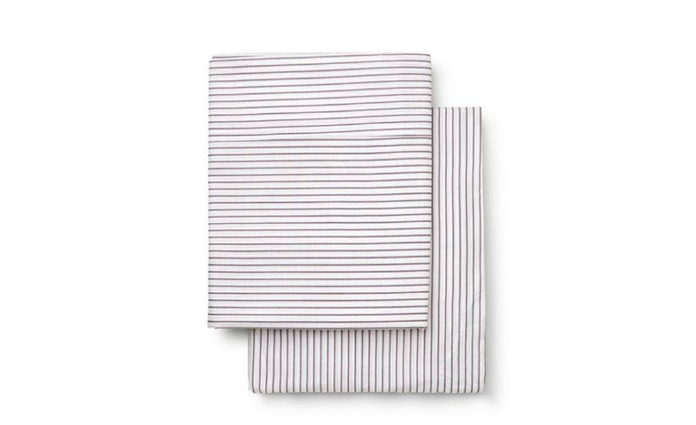 Marquise Cot Sheet Set Grey Stripe   Online in Australia