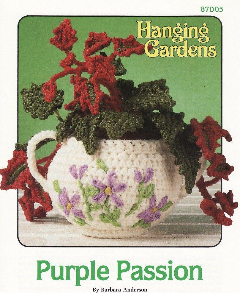 Purple Passion Crochet Pattern Plant Pot Hanging Gardens Series ...