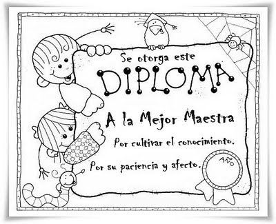 Pin De Maria N En Teachers Appreciation Diplomas Para