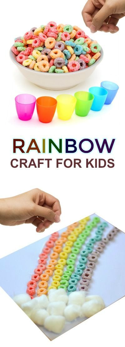 Rainbow Craft For Kids Rainbow Preschool Activity Pinterest