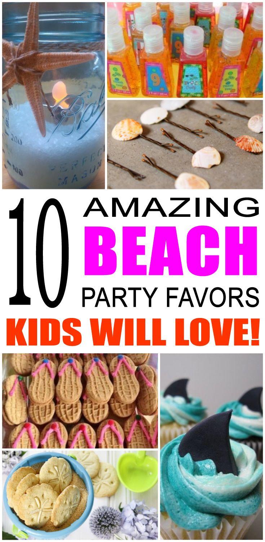 Beach Party Favor Ideas Beach Party Favors Kids Beach Party