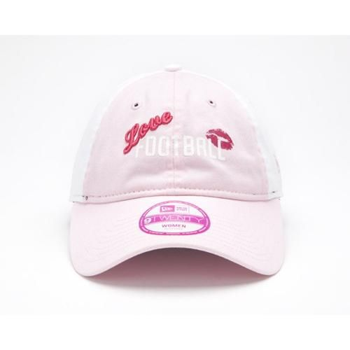 Pro Football Hall of Fame Womens Football Love New Era® 9TWENTY® Hat (Pink). Click to order! - $19.99
