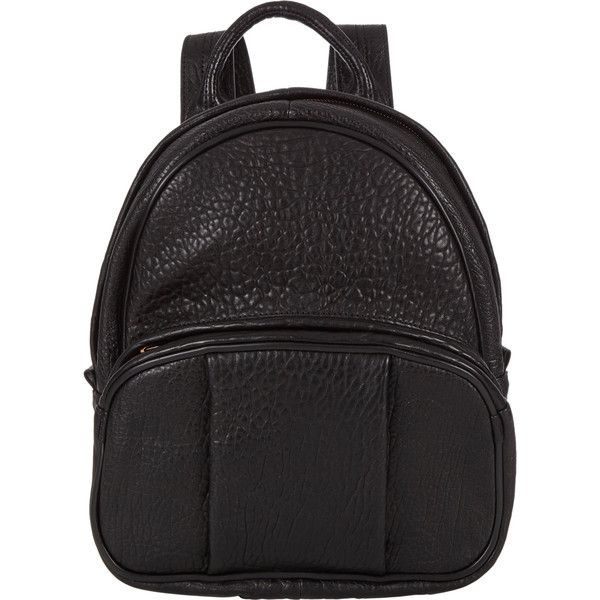Alexander Wang Dumbo Backpack (€955) ❤ liked on Polyvore featuring bags, backpacks, colorless, black backpack, black rucksack, alexander wang backpack, alexander wang and clear backpack