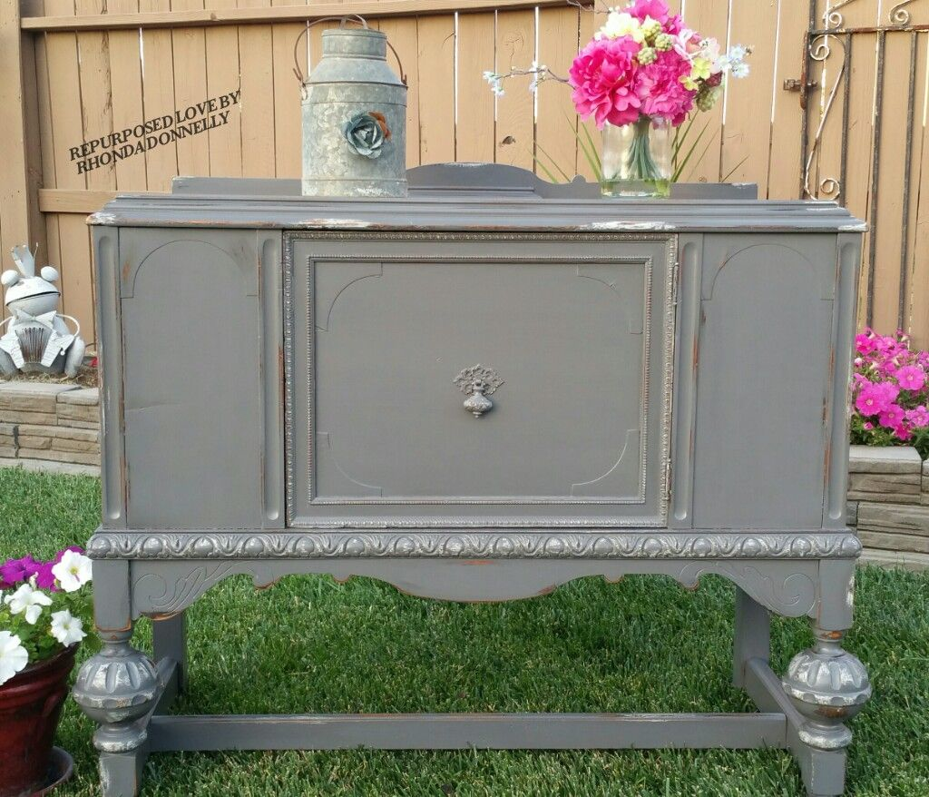 Best Vintage Jacobean Sideboard Refinished In General Finishes 400 x 300