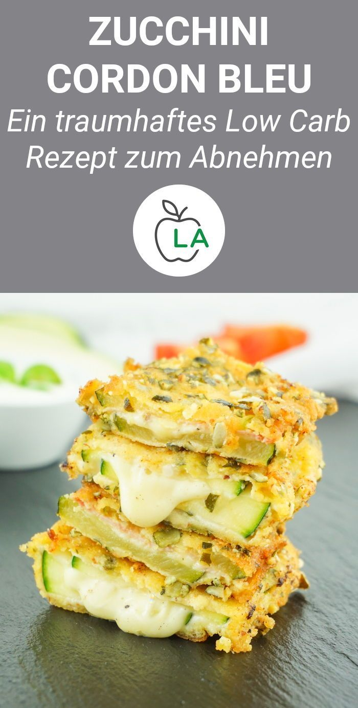 Zucchini Cordon Bleu - Vegetarisches oder klassisches Low Carb Rezept #kohlenhydratarmerezepte