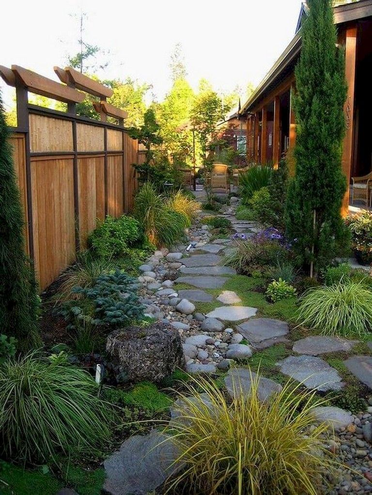 70 brilliant low maintenance front yard landscaping ideas - Small backyard landscape designs ...