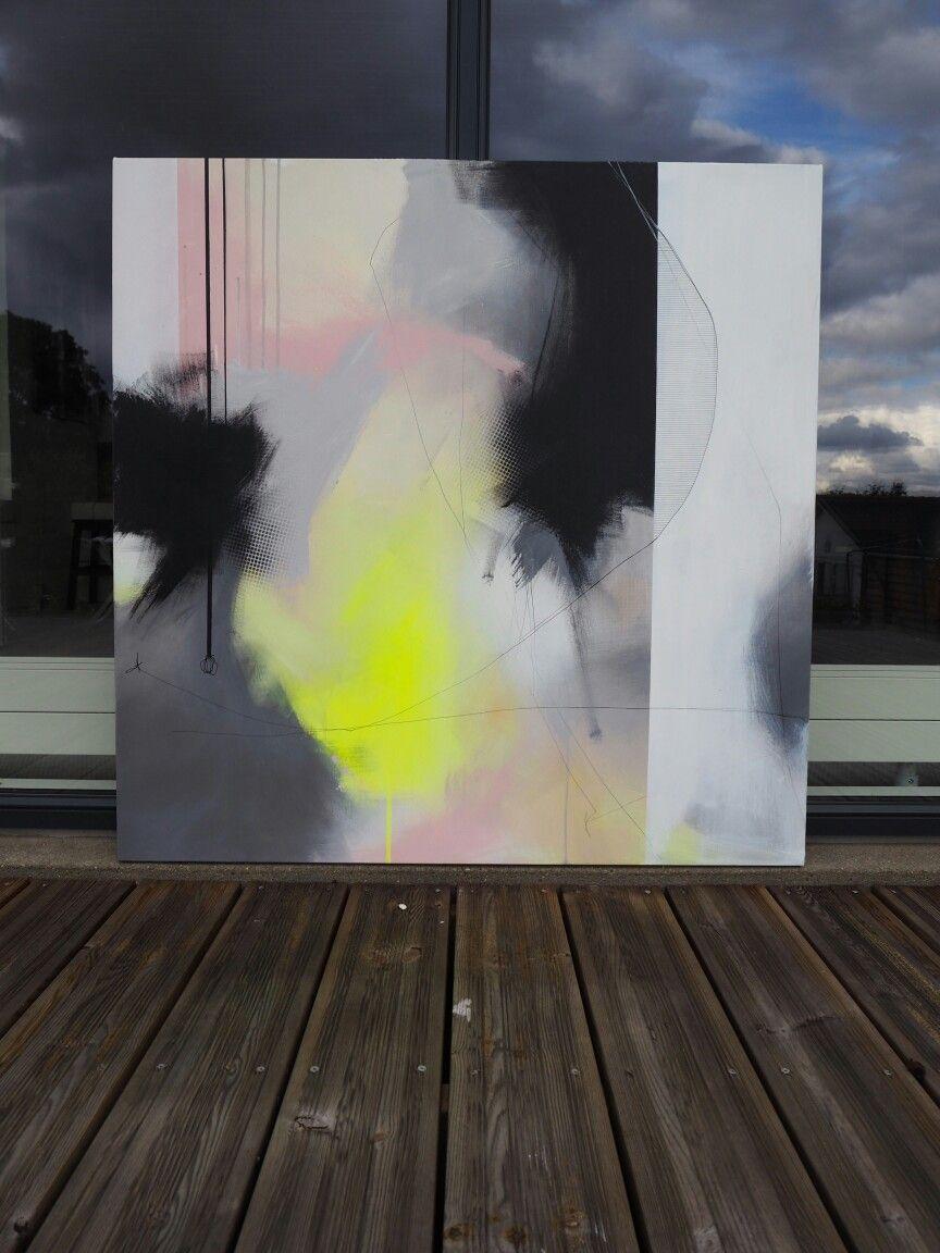 100x100 abstrakte kunst gemalde malerei 3 teilige leinwand 120x40
