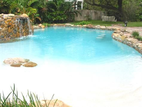 Walk in pool | Ideas for the new Home | Pinterest | Backyard ...