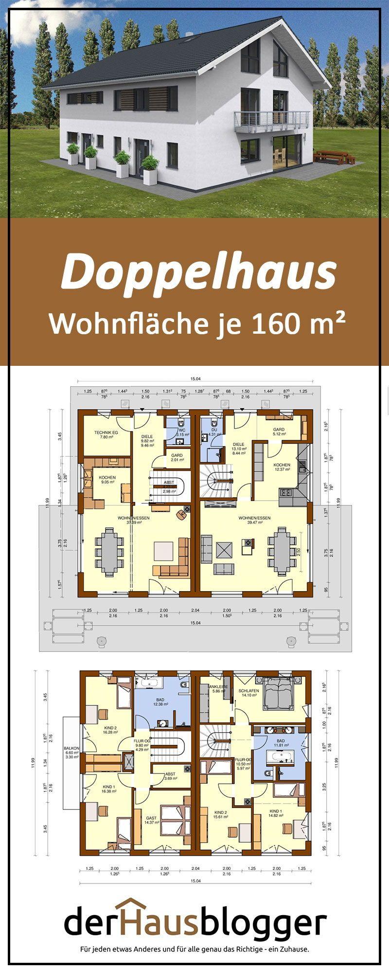 Doppelhaus Wohnflaeche 160 M2 In 2019 Häuser Mit Satteldach