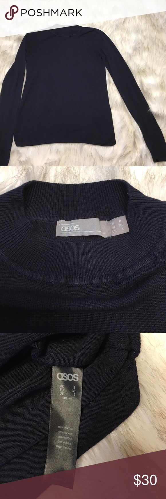 NWOT ASOS Mock Turtleneck Sweater Beautiful, finely knit black mock turtleneck sweater by ASOS. Never worn, in perfect condition. ASOS Sweaters Cowl & Turtlenecks