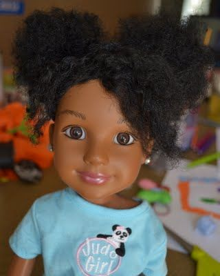 Diy Natural Hair For Dolls Tutorial Need To Do This For All The Little Girls In My Life Natural Hair Diy Natural Hair Styles Natural Hair Doll