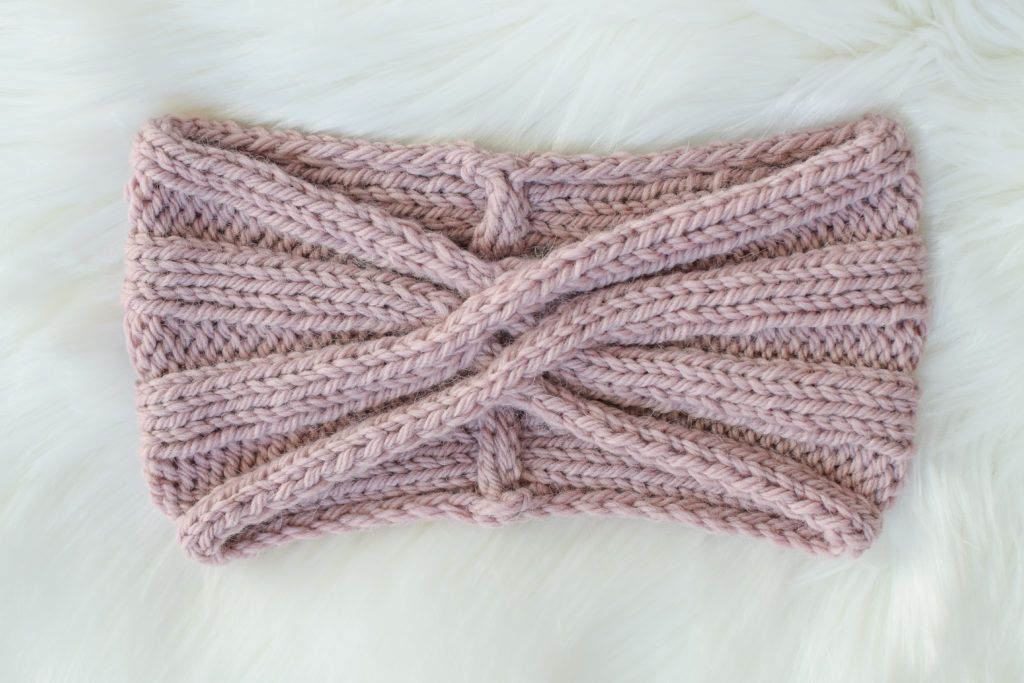 Cable Twist Headband - free knitting pattern from Knifty ...