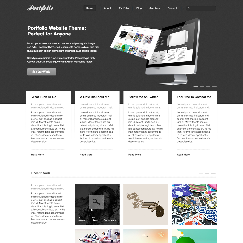 Free PSD Portfolio and Resume Website Templates in 2019