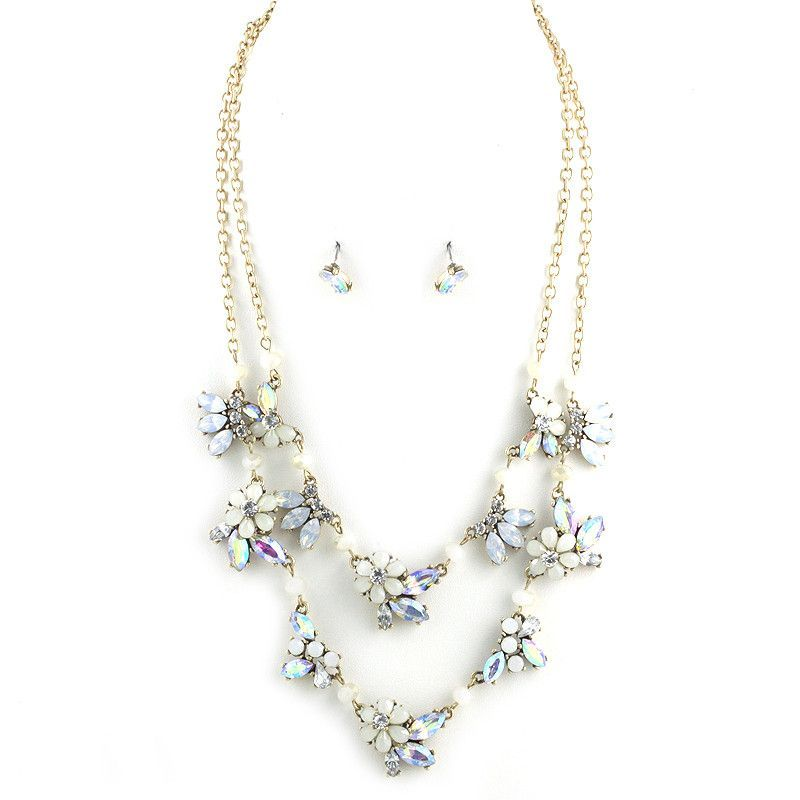 Double Layered Flower Necklace