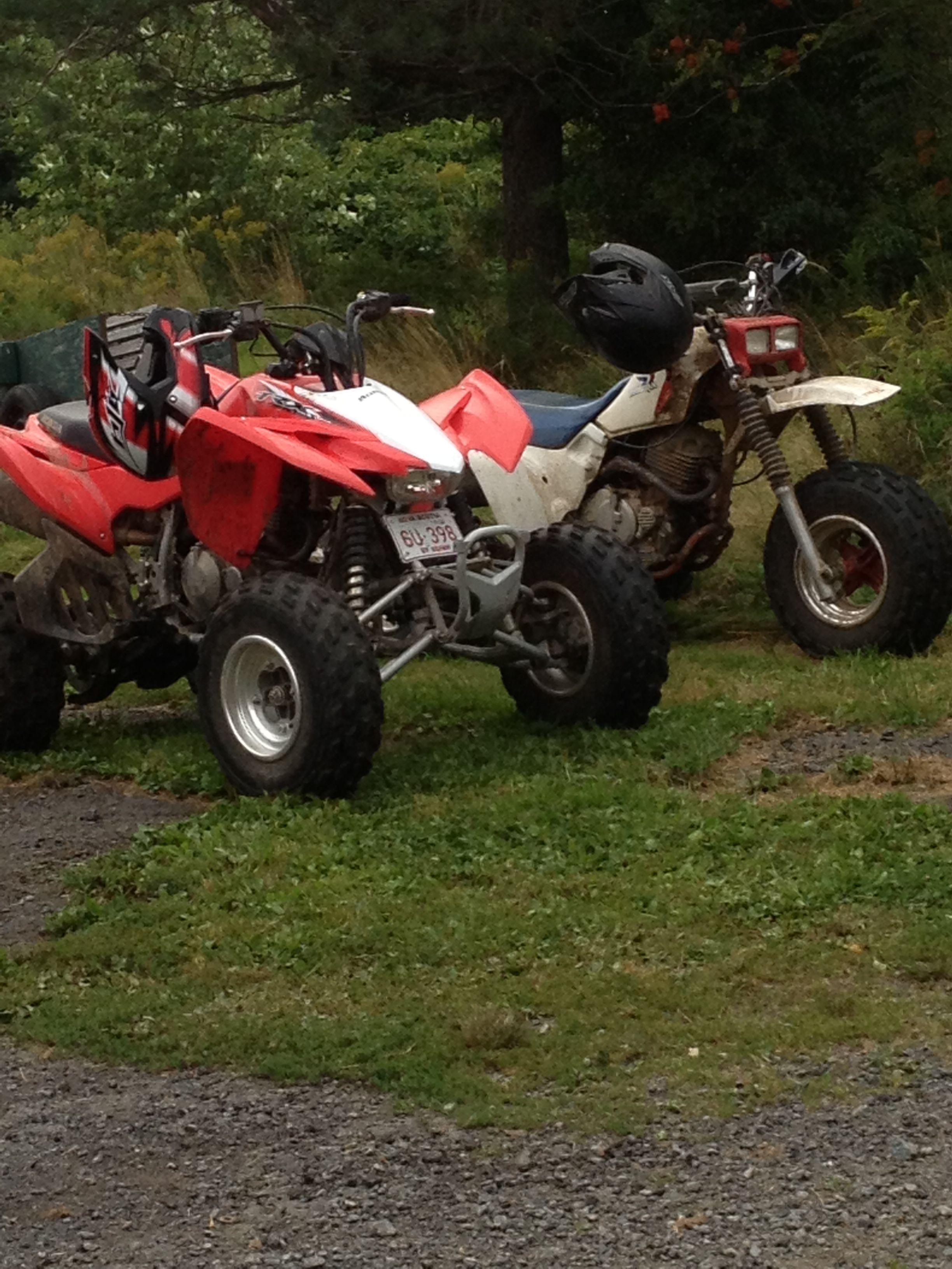 My brothers 300X (350X with a 300EX motor) and his buddies 2013 400X