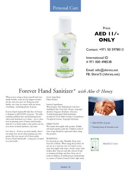 Forever Hand Sanitizer Hand Sanitizer Sanitizer