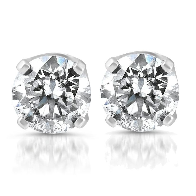 59a3e3f73 Bliss 14k White Gold 1/4 ct TDW Diamond Studs, Women's (solid ...