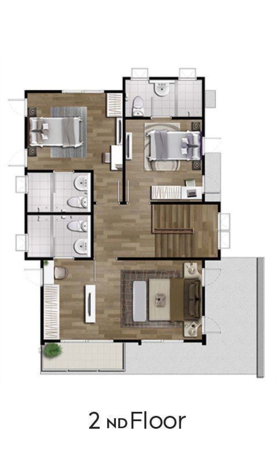 2 Storey Single Detached House 164 Sq M Home Ideas Detached House House House Plans