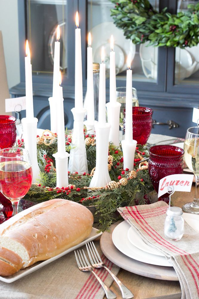 Bud vase candle holder centerpiece and christmas
