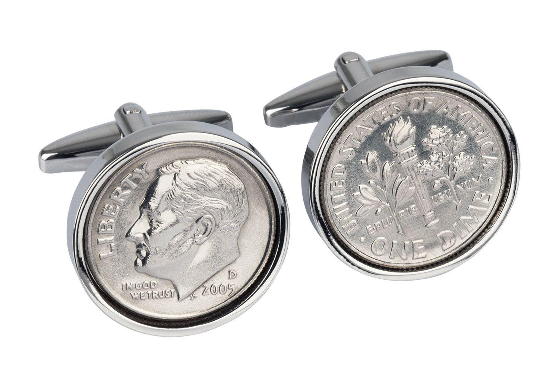 2006 american dime coin cufflinks perfect 14th
