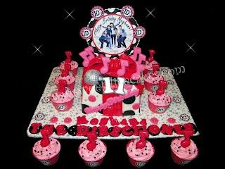 One Direction Style Birthday Fashion Custom Cupcakes Candles