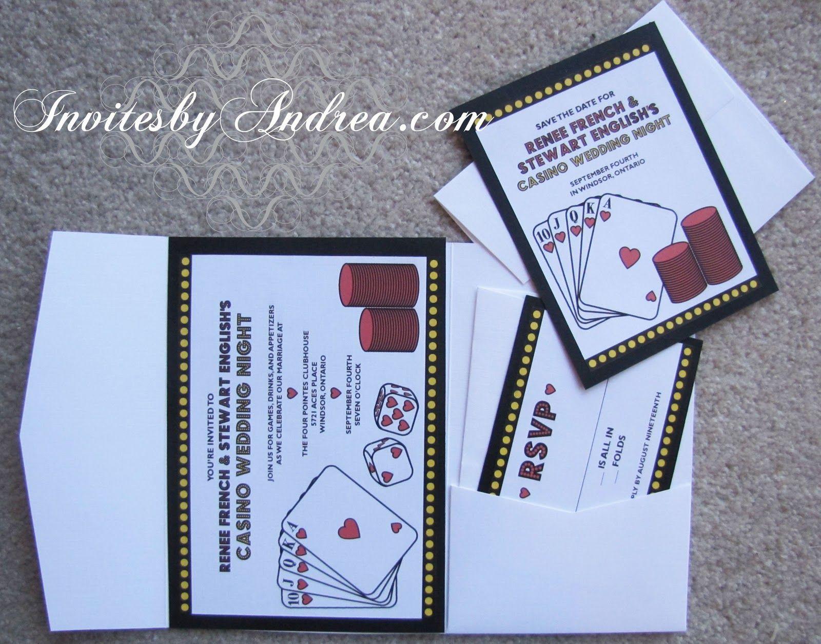 free casino royale invitation templates