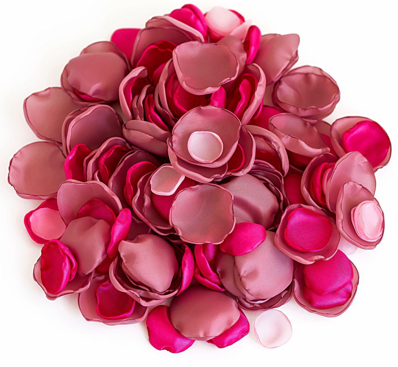 Handmade flower petals in three shades of pink silk petals fabric handmade flower petals in three shades of pink 204 silk by likron 2500 mightylinksfo