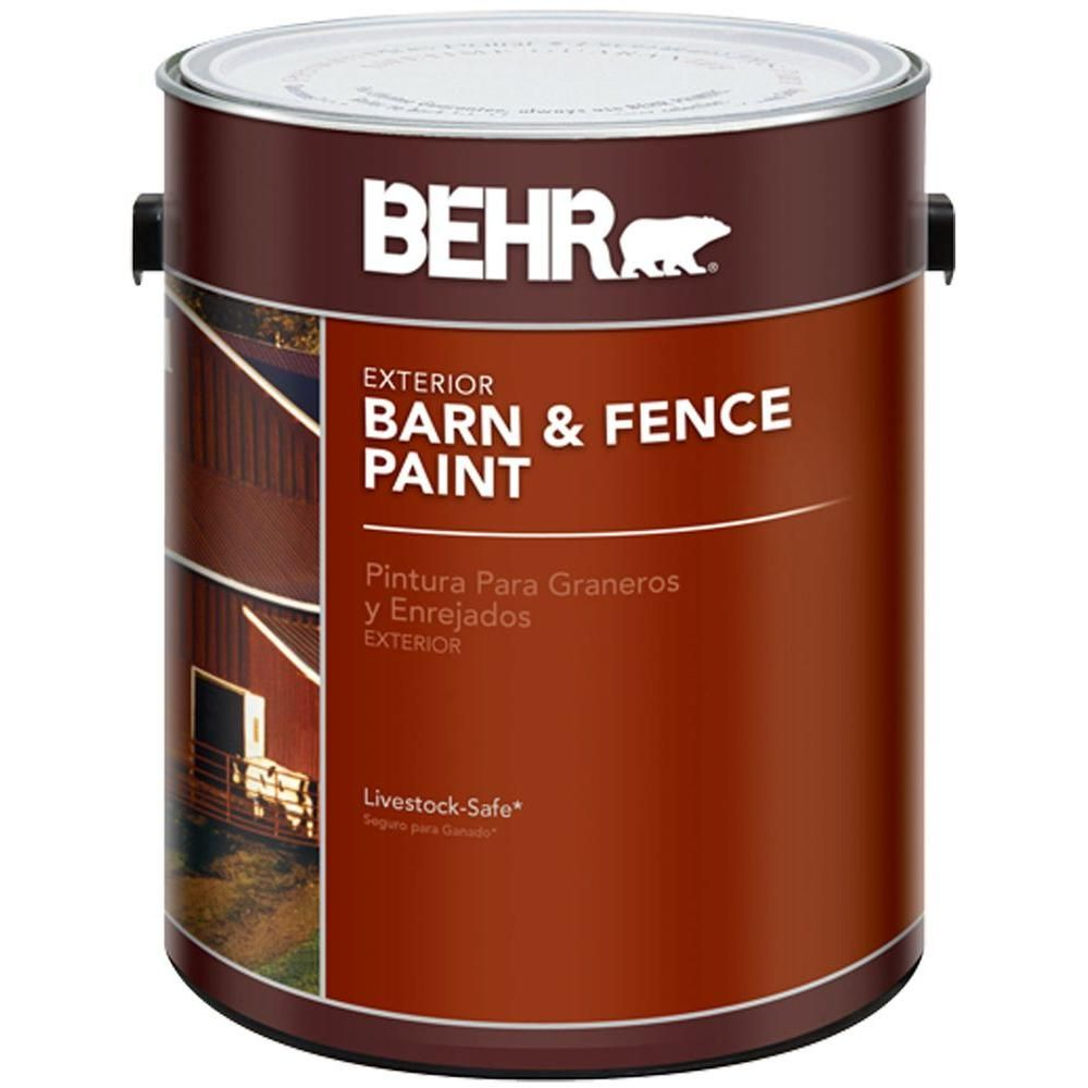 Best Behr 1 Gal Red Barn And Fence Exterior Paint 02501 400 x 300
