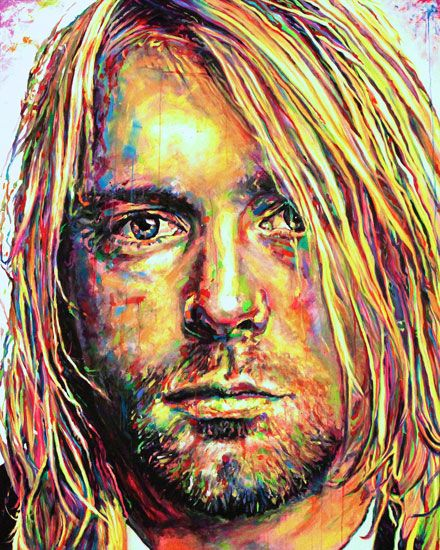 Kurt Cobain by artist Cole Kuesner